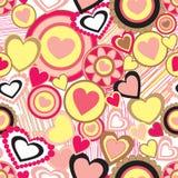 Nahtloses Muster des verschiedenen Herzdesignmusters stock abbildung
