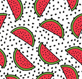 Nahtloses Muster des Wassermelonensommers Stockfotos