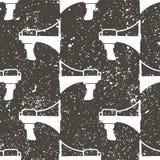 Nahtloses Muster des weißen Megaphons, Vektor Stockfotografie