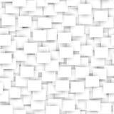 Nahtloses Muster des weißen Rechtecks Lizenzfreie Stockbilder