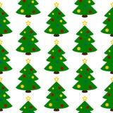Nahtloses Muster des Weihnachtsbaum-Symbols Lizenzfreies Stockbild