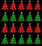 Nahtloses Muster des Weihnachtsbaums Lizenzfreie Stockbilder