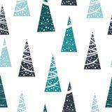 Nahtloses Muster des Weihnachtsbaums Vektor Abbildung