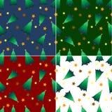 Nahtloses Muster des Weihnachtsbaums Stockbild