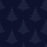 Nahtloses Muster des Weihnachtsbaums Lizenzfreies Stockfoto