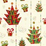 Nahtloses Muster des Weihnachtsbaums Stockbilder
