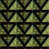 Nahtloses Muster des Weihnachtsbaums lizenzfreie abbildung