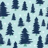 Nahtloses Muster des Weihnachtsbaums Stockfoto