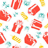 Nahtloses Muster des Weihnachtsfeiertags Stockfoto