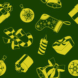 Nahtloses Muster des Weihnachtsfeiertags Stockfotos