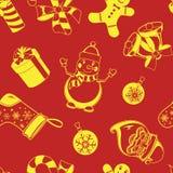 Nahtloses Muster des Weihnachtsfeiertags Stockfotografie