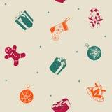 Nahtloses Muster des Weihnachtsfeiertags Lizenzfreies Stockbild