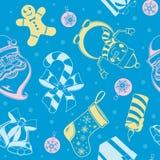 Nahtloses Muster des Weihnachtsfeiertags Lizenzfreie Stockfotos
