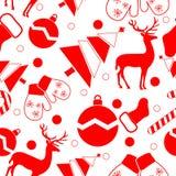 Nahtloses Muster des Weihnachtsvektors Lizenzfreies Stockbild
