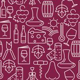 Nahtloses Muster des Weinbar für Restaurantmenü vektor abbildung