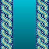 Nahtloses Muster des Wellenmosaiks stock abbildung