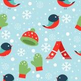 Nahtloses Muster des Winters Stockbild