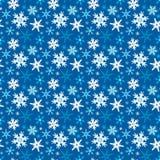Nahtloses Muster des Winters mit Schneeflocken vektor abbildung
