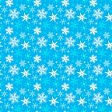 Nahtloses Muster des Winters mit Schneeflocken stock abbildung