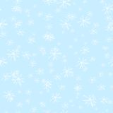 Nahtloses Muster des Winters mit Schneeflocken Lizenzfreie Stockfotos