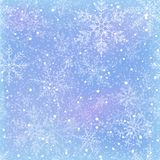 Nahtloses Muster des Winters mit Schneeflocken Stockfotografie