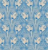 Nahtloses Muster des Zaubers mit schönem Mädchen Stockfotos