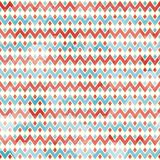 Nahtloses Muster des Zickzacks mit Schmutzeffekt Lizenzfreie Stockfotografie