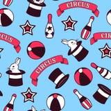 Nahtloses Muster des Zirkusses Lizenzfreies Stockfoto