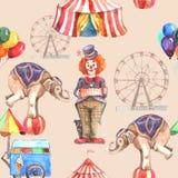 Nahtloses Muster des Zirkusses Stockbild