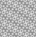 Nahtloses Muster des Zusammenfassungshexagons von gestreiften Elementen Beschaffenheit des Gitters, Gitter stock abbildung