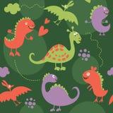 Nahtloses Muster, Dinosaurier Lizenzfreie Stockfotografie