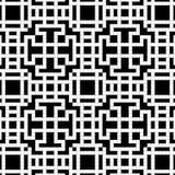 Nahtloses Muster - ein Gitter ein Kreuzworträtsel vom Schwarzen und vom Whit Lizenzfreie Stockfotos
