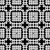 Nahtloses Muster - ein Gitter ein Kreuzworträtsel vom Schwarzen und vom Whit Stockfoto