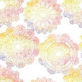 Nahtloses Muster Elegante Spitzen- Aquarell Doilies Lizenzfreie Stockfotografie