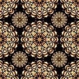 Nahtloses Muster Element-Vektorillustration der Weinlese dekorative Stockfotografie