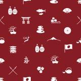 Nahtloses Muster eps10 der japanischen Ikonen Stockfotografie