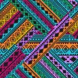 Nahtloses Muster Ethnische Bänder Boho Stammes- Artdesign Stockfotografie