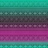 Nahtloses Muster Ethnische Bänder Boho Stammes- Artdesign Stockfotos