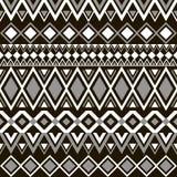 Nahtloses Muster Ethnische Bänder Boho Stammes- Artdesign Lizenzfreies Stockbild