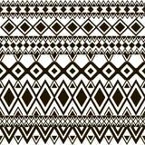Nahtloses Muster Ethnische Bänder Boho Stammes- Artdesign Stockbilder