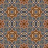 Nahtloses Muster fünf Zufar Stockfotos
