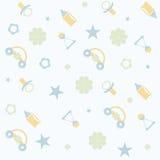 Nahtloses Muster für Baby Stockfotografie