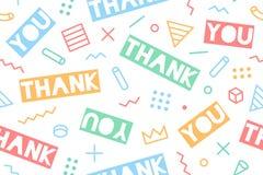 Nahtloses Muster für Danksagungs-Tag Stockbilder