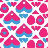 Nahtloses Muster für das DA des Valentinsgrußes Stockfotografie