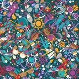 Nahtloses Muster für Design im Stil der Kinder Stockbilder