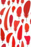 Nahtloses Muster für glückliches chinesisches neues Jahr 2017, mit verschiedenen Schatten des roten Hahns versieht auf weißem Hin Lizenzfreies Stockbild