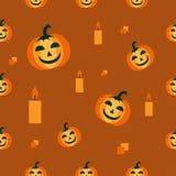 Nahtloses Muster für Halloween Stockbild