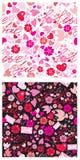 Nahtloses Muster für Valentinsgruß `s Tag Lizenzfreie Stockbilder