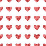 Nahtloses Muster für Valentinstag Lizenzfreie Stockfotos