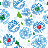 nahtloses Muster, frohe Weihnachten, Schneeflocke Stockbild